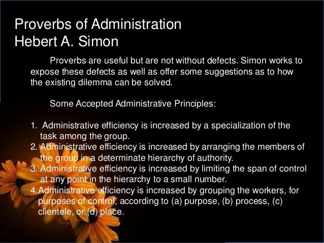 administrative behavior pdf