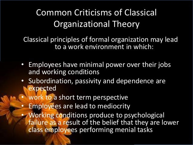 organizational and management theories essay Organizational theory and  the project management organizational structure has been used effectively in highly dynamic  a critical essay.