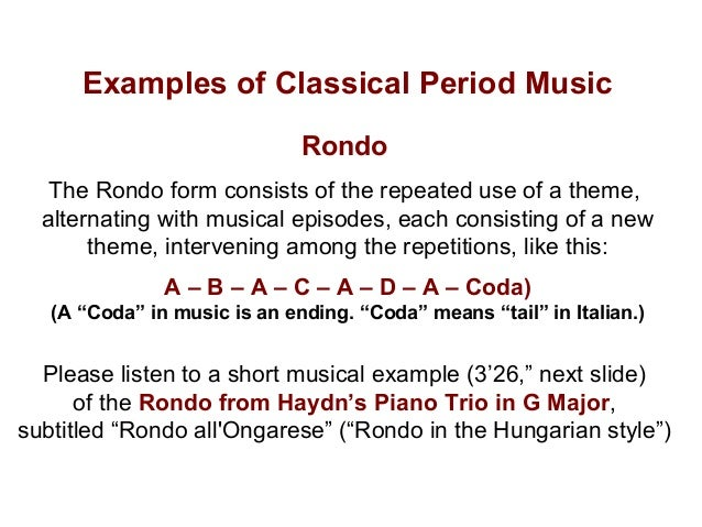 The Classical Period of Western Musical History