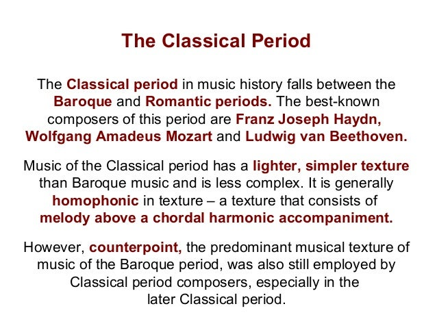 classical and baroque music essay