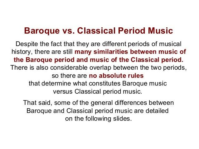 Baroque vs classical