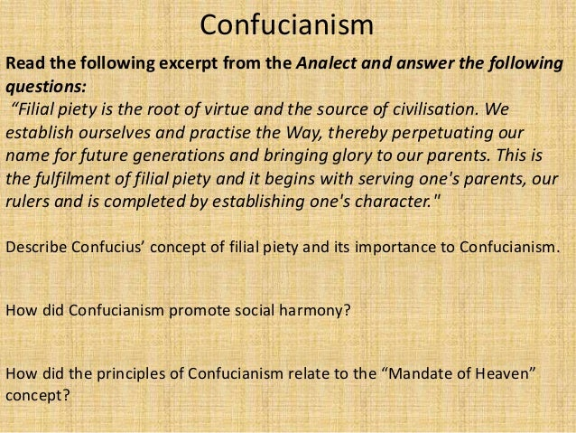 confucianism filial piety in chinese religion essay Comparing confucianism in japan and china on studybaycom - other, essay - carkim | 100005050 r$ filial piety, courtesy rules, social obligations, etc the government in japan still doesn't recognize confucianism as a religion.