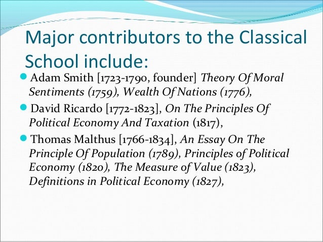 classical political economy essay Political authorities,  this chapter aims to introduce the political economy of capitalism in order to take note of two modes of governmental intervention,.