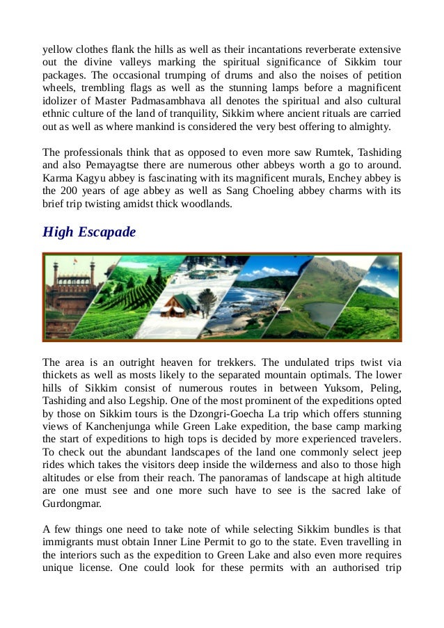 Classical sikkim tour packages. Slide 2