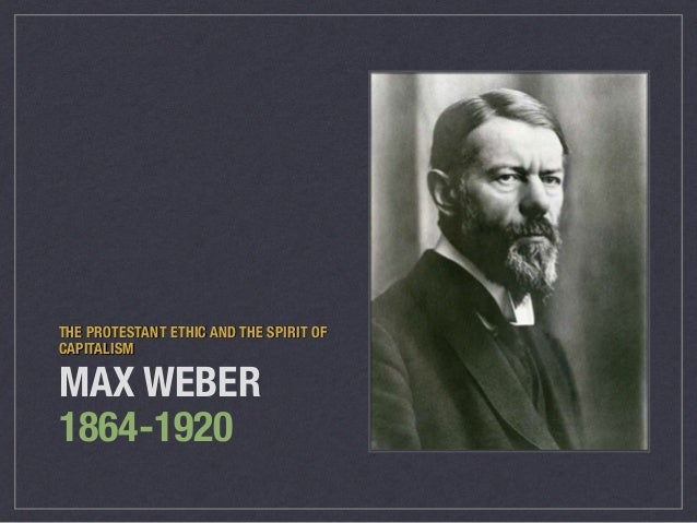 Capitalism in marx and weber