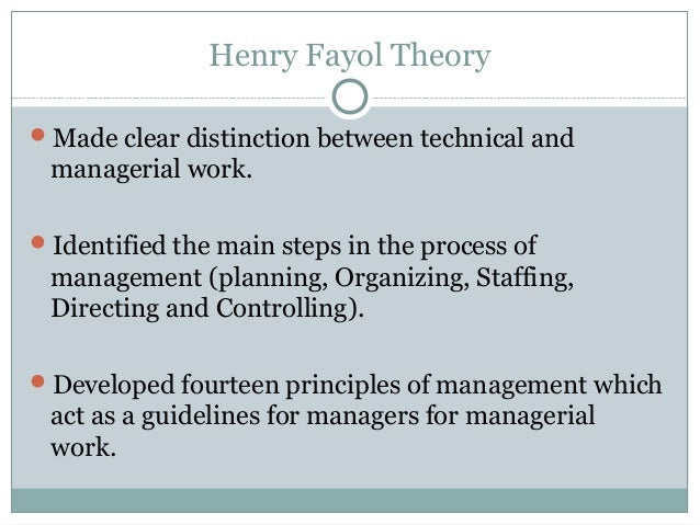 """henry fayol theory of management 23032015 part a frederick winslow taylor is an american mechanical engineer known as """"the father of scientific management because he worked to improve."""