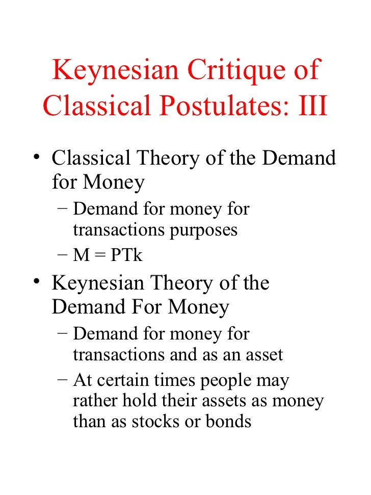 classical economics vs keynesian economics essay Debate on keynesian vs supply side economics description: 1 break the class up into two groups 2 one group should spend time researching keynesian economic theory, using npp's a people's guide to the federal budget and other sources 3.