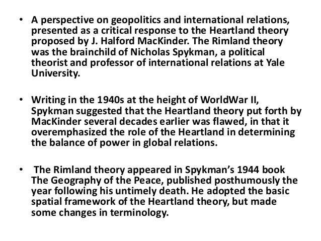 cold war and classical geopolitics The new geopolitics by michael klare (jul 01, 2003) geopolitics died out as a self-conscious mode of analysis in the cold war period but also because there were a lot of parallels between classical geopolitical thinking.
