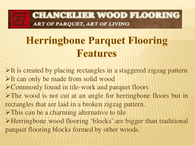 Classic and Elegant Herringbone Parquet Flooring
