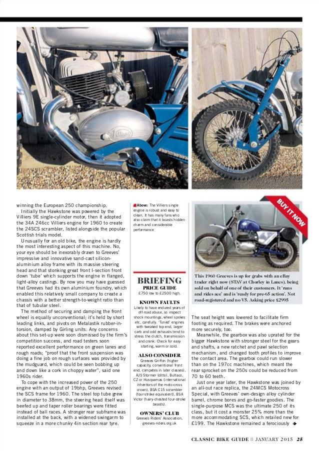 Classic bike guide january 2015 uk