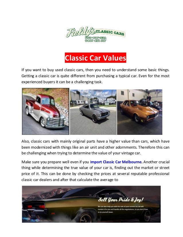 Classic Car Dealers Melbourne | Import Classic Car