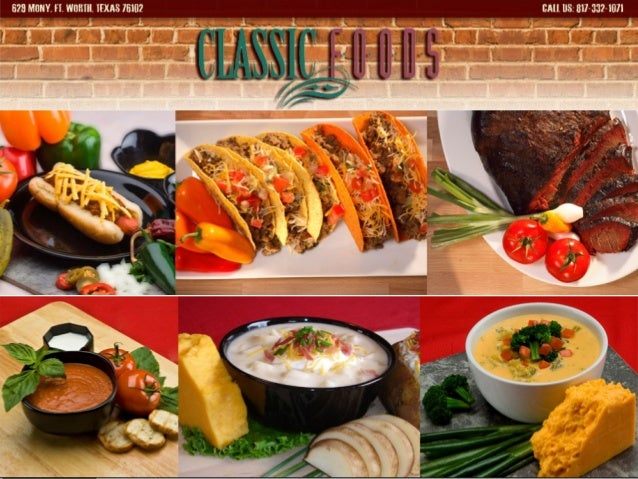 Established in 1992, Classic Foods is a leading food company in Fort Worth, Texas. www.classicfoods.biz