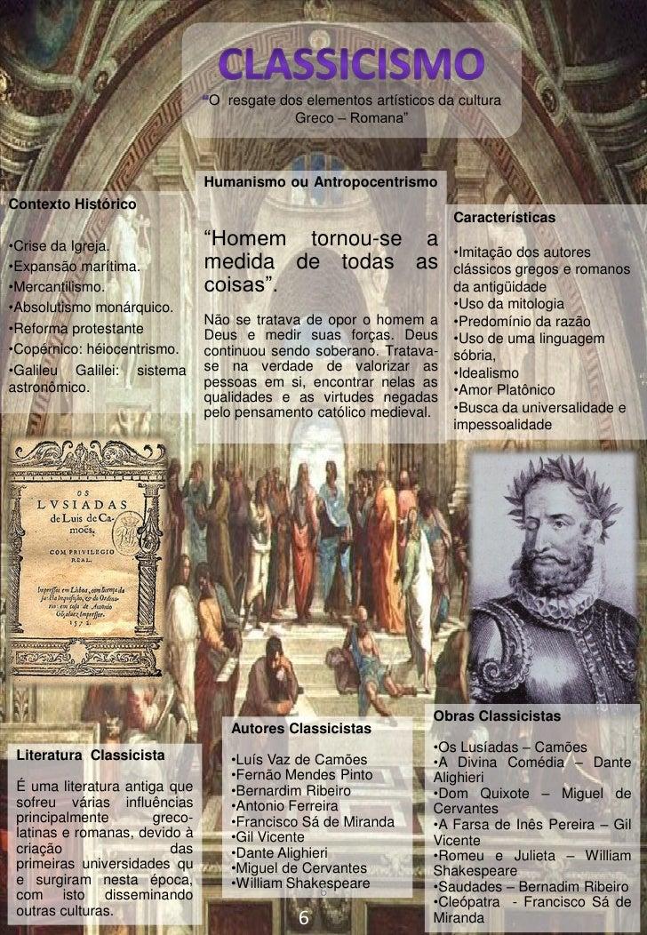 """O resgate dos elementos artísticos da cultura                                            Greco – Romana""""                  ..."""