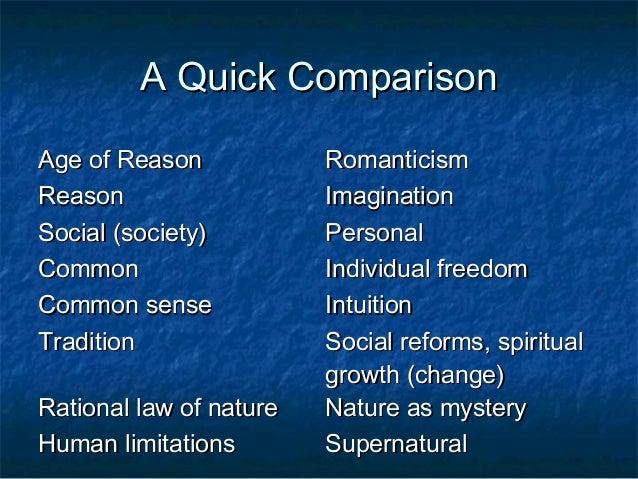 enlightenment vs romanticism essay