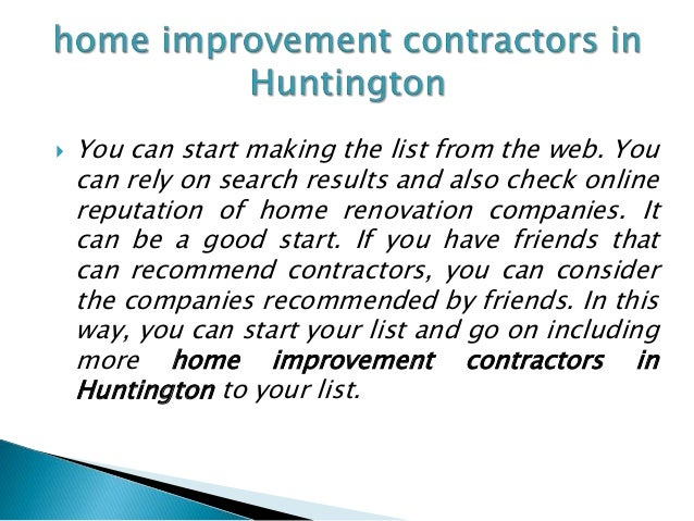 How to locate reliable home improvement contractors in for Home renovation contractors