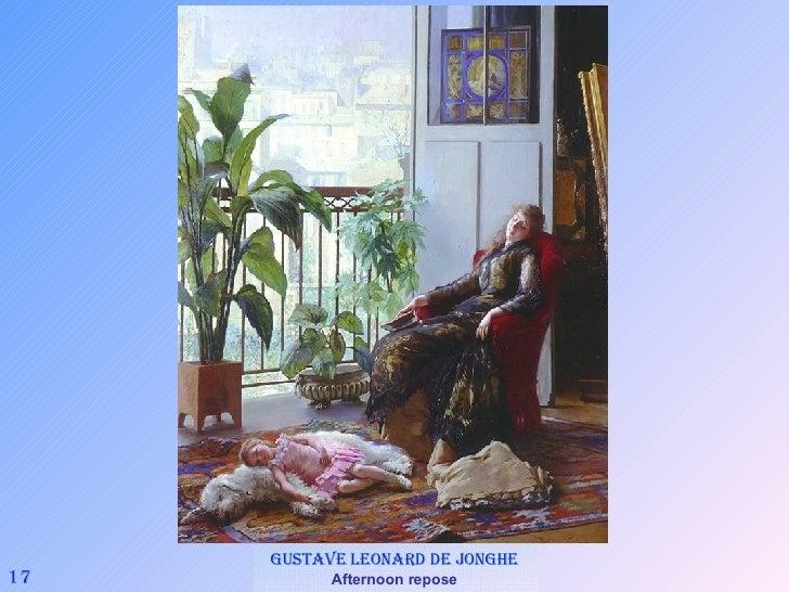 17 Gustave Leonard de Jonghe   Afternoon repose