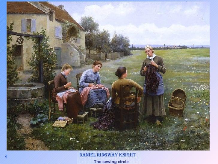 4 Daniel Ridgway Knight   The sewing circle
