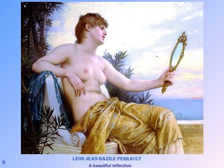 6 Leon Jean Bazile Perrault   A beautiful reflection
