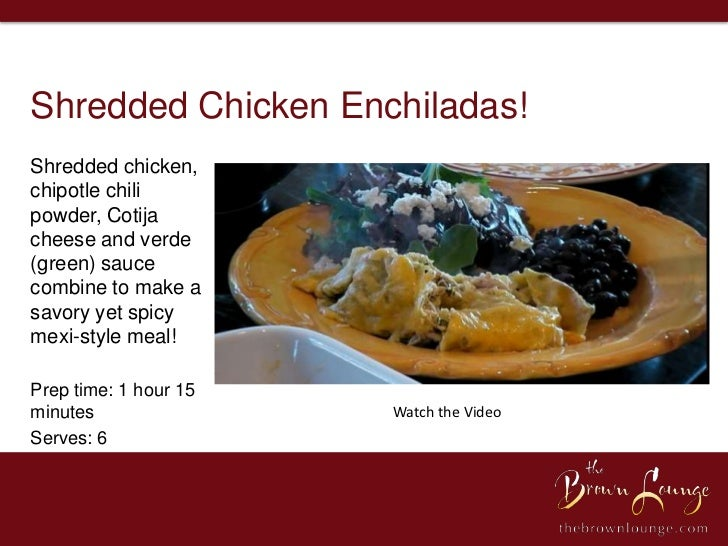Shredded Chicken Enchiladas!Shredded chicken,chipotle chilipowder, Cotijacheese and verde(green) saucecombine to make asav...
