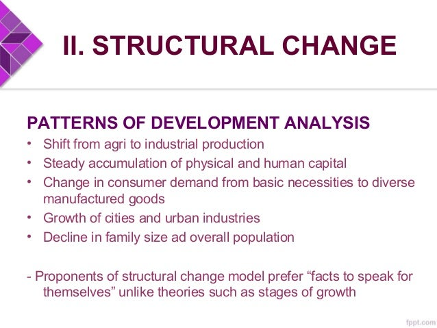II. STRUCTURAL CHANGE CONCLUSIONS • Major hypothesis: development is an identifiable process of growth and change with fea...