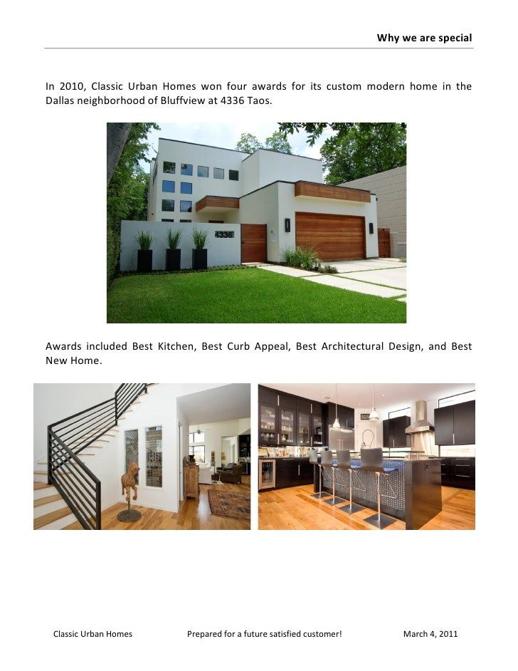 Classic urban homes corporate brochure for Classic urban house plans