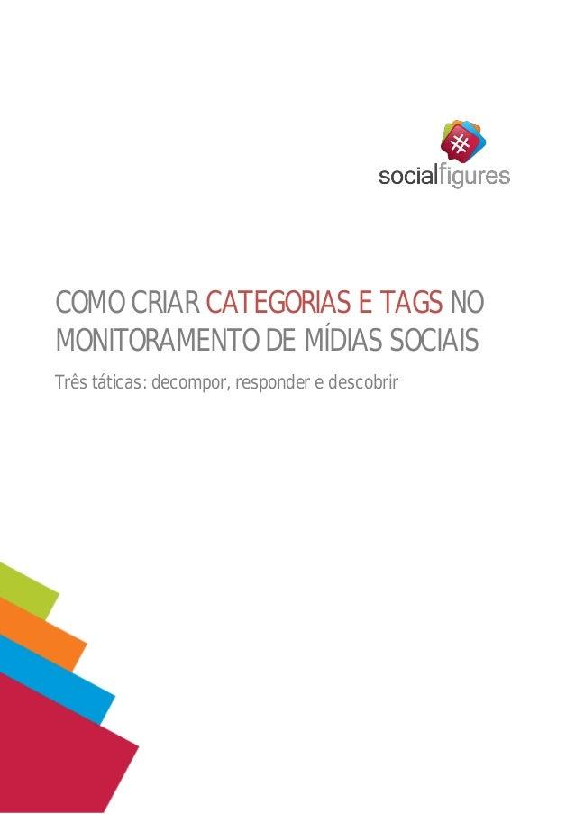 COMO CRIAR CATEGORIAS E TAGS NO MONITORAMENTO DE MÍDIAS SOCIAIS  Três táticas: decompor, responder e descobrir