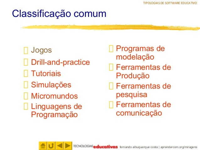 Tipologias de software educativo Slide 3