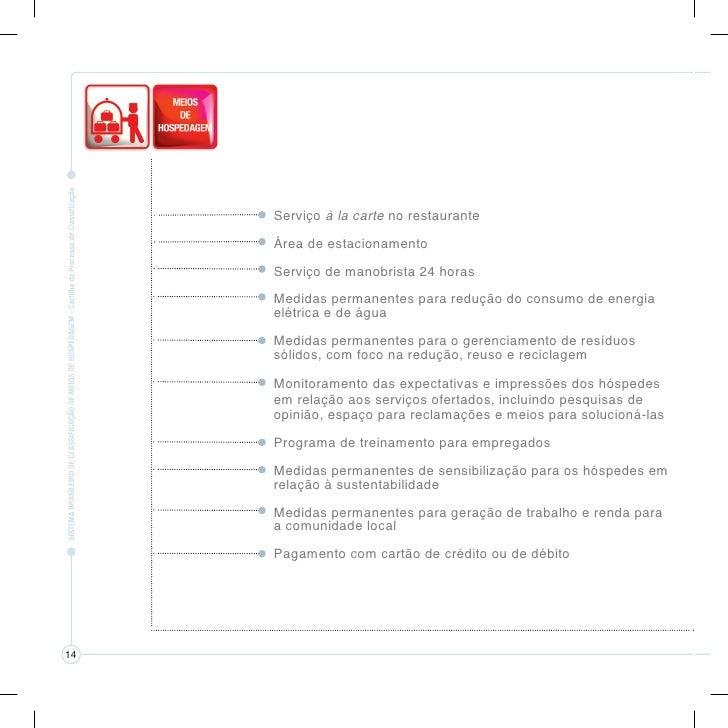 Para saber mais sobre o Sistema Brasileiro deClassificação de Meios de Hospedagem, consulte:       www.turismo.gov.br  www...