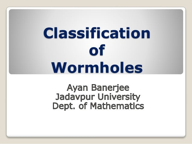 Classification  of  Wormholes