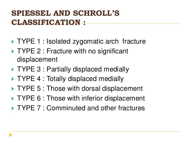 • NOE fractures are most commonly classified according to Markowitz BL, Manson PN, Sargent L, et al (1991) • Type I • Type...