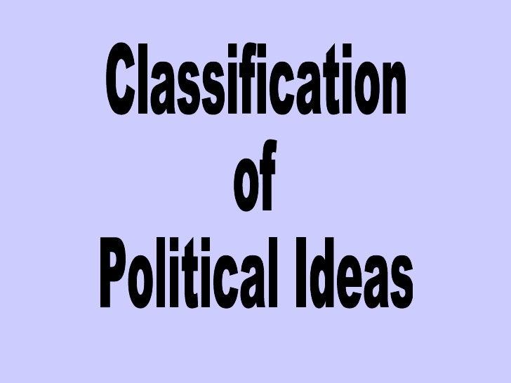 Classification  of  Political Ideas