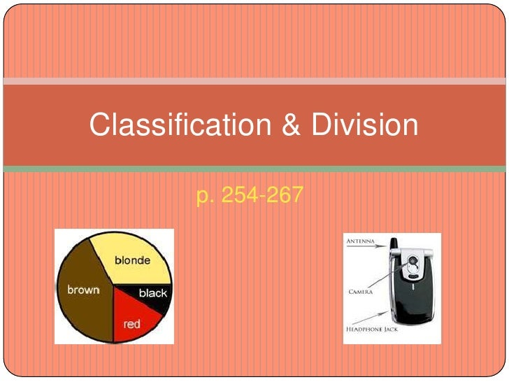 classification division  254 267<br >classification