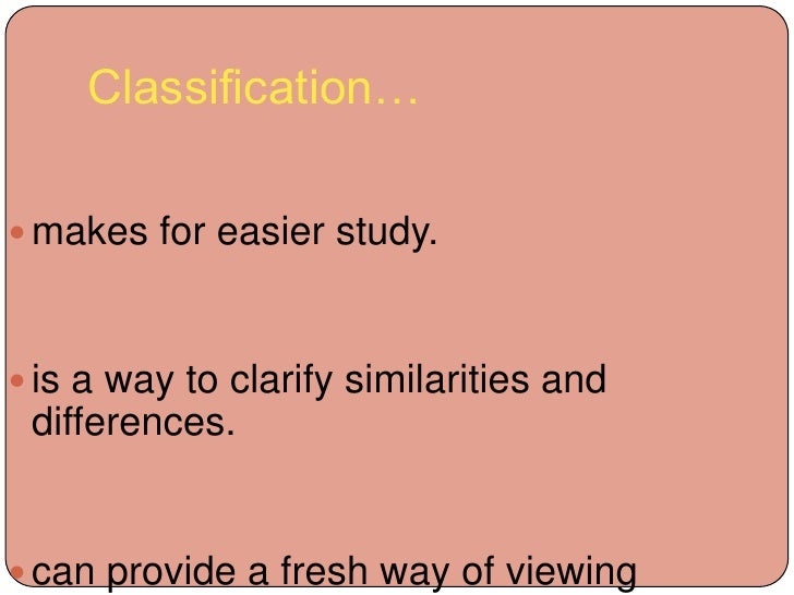 difference between division and classification essays Free classification papers, essays good books and great books - the difference between good books and division and classification.