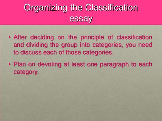 division/classification essays