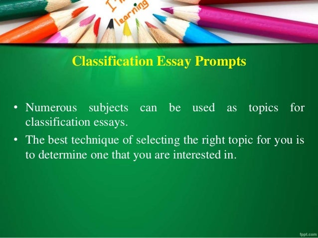 classification expository essay Four rhetorical patterns are a part of good expository writing classification a classification paragraph can be built into a classification essay.