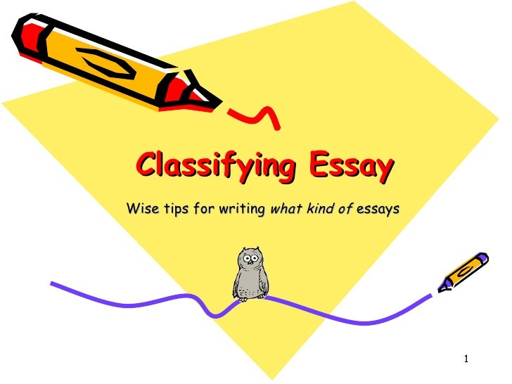 Classification essay (writing 3)