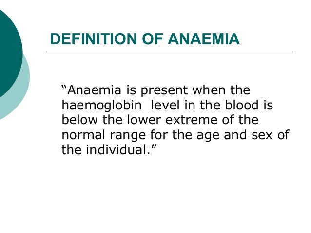 Classification  of anemia Slide 2