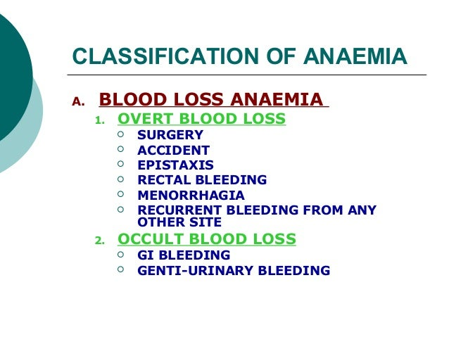 Classification  of anemia Slide 3
