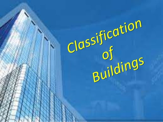 Classification of buildings