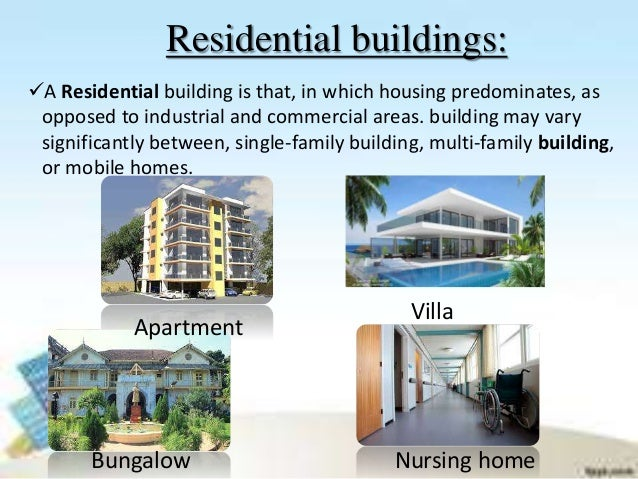 Classification of buildings for Types of houses to build