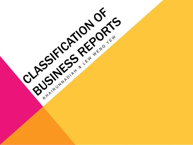 types of reports pdf