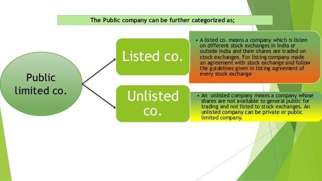 Classification of Company