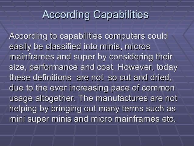 According CapabilitiesAccording Capabilities According to capabilities computers couldAccording to capabilities computers ...