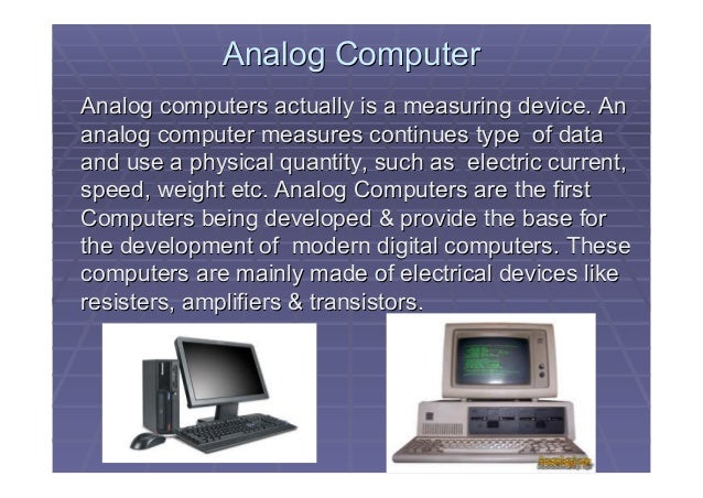 Examples Of Analog Computer