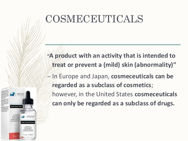Classification of cosmeceuticals