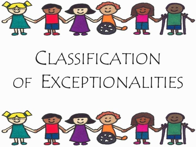 CLASSIFICATION OF EXCEPTIONALITIES