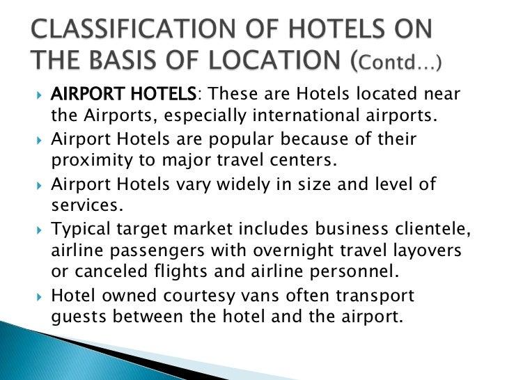 Classification essay hotels
