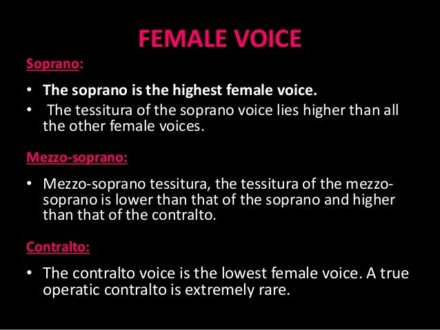 lowest female voice
