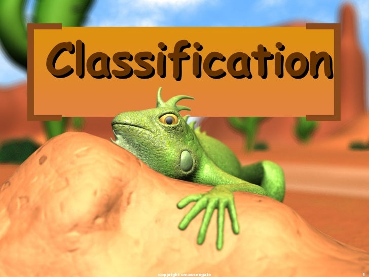 Classification copyright cmassengale