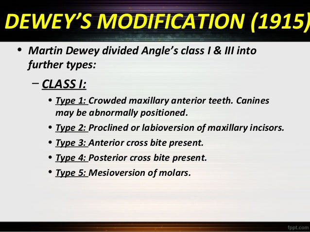 classification of malocclusion ppt